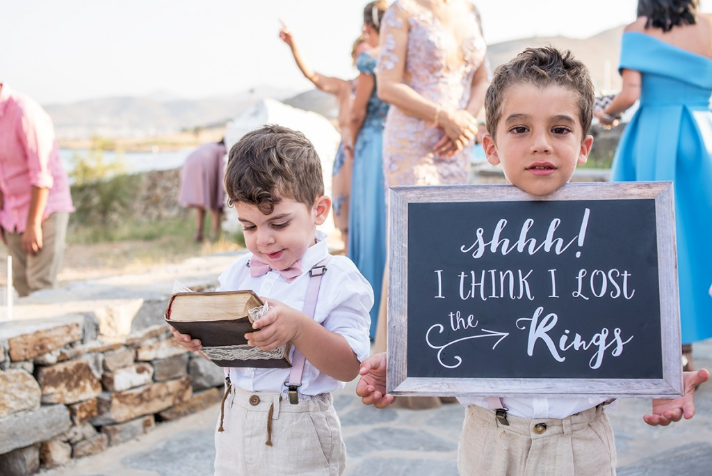 wedding ceremony in Paros
