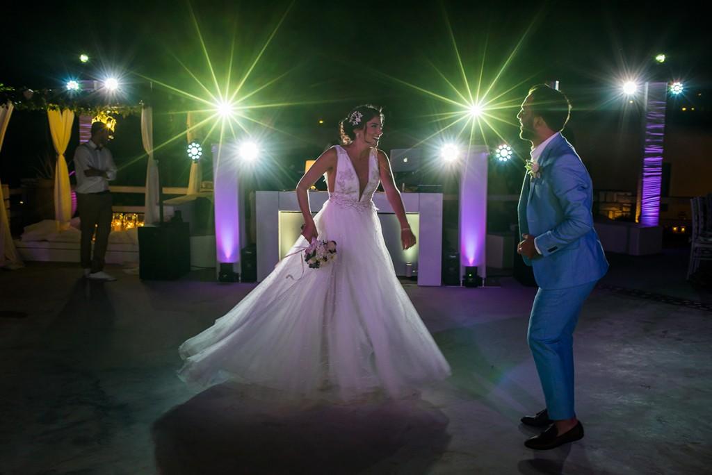 wedding party in Paros